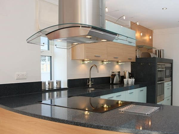 electric hob in kitchen